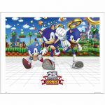 Sonic the Hedgehog 25th Anniversary 14 x 11″Art Print""
