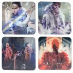 Star Wars Episode VIII The Last Jedi Set Of 4 Lenticular Coasters