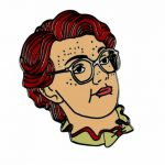 Stranger Things Inspired Barb Enamel Pin from Punky Pins