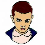 Stranger Things Inspired Eleven Enamel Pin from Punky Pins