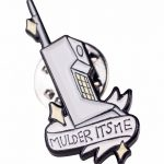 The X-Files Inspired Mulder It's Me Phone Enamel Pin from Punky Pins