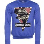 Jurassic Park Raptor Heather Blue Sweater