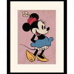 Vintage Minnie Mouse Framed Mounted And Print 30cm x 40cm