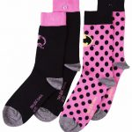 Women's 2pk DC Comics Batman Polka Dot Socks