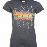 Women's Back to the Future Lightning Bolt Dark Heather T-Shirt