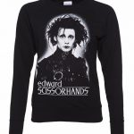 Women's Black and White Edward Scissorhands Sweater