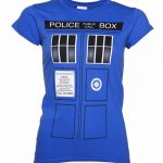 Women's Blue Doctor Who TARDIS T-Shirt