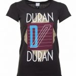 Women's Charcoal Duran Duran Ragged Tiger T-Shirt from Amplified