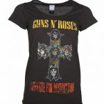 Women's Charcoal Guns N' Roses Appetite For Destruction T-Shirt from Amplified