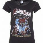 Women's Charcoal Judas Priest Defenders Of The Faith T-Shirt from Amplified