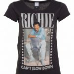 Women's Charcoal Lionel Richie Can't Slow Down T-Shirt from Amplified