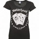 Women's Charcoal Motorhead Ace Of Spades T-Shirt from Amplified