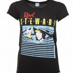 Women's Charcoal Rod Stewart Blinds T-Shirt from Amplified