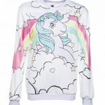 Women's Classic My Little Pony Princess Sparkle Rainbow Ringer Sweater