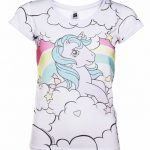 Women's Classic My Little Pony Princess Sparkle Rainbow Ringer T-Shirt