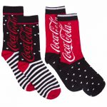 Women's Coca-Cola Hearts And Stripes 2pk Socks