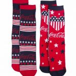 Women's Coca-Cola Stars And Stripes 2pk Socks