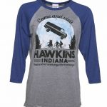 Women's Come and Visit Hawkins Indiana Stranger Things Inspired Raglan Baseball T-Shirt