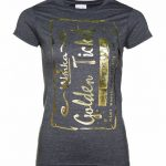 Women's Foil Print Golden Ticket Roald Dahl T-Shirt