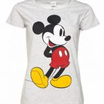 Women's Grey Marl Classic Mickey Mouse Disney T-Shirt