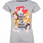 Women's Grey Marl Disney It's A Princess Thing T-Shirt