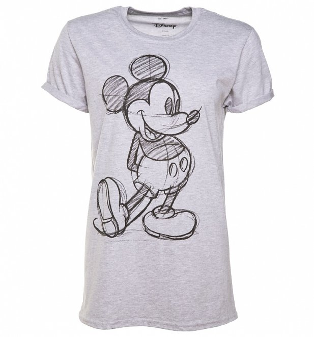 7f6d45cc3 First hitting our screens in 1928 – Mickey Mouse has been the most iconic  Disney character ever created! This super cool t-shirt features a sketch  design ...