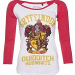 Women's Harry Potter Gryffindor Crest Long Sleeve Baseball T-Shirt