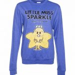 Women's Little Miss Sparkle Heather Blue Sweater