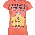 Women's Little Miss Sparkle Heather Orange T-Shirt