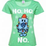 Women's Mr Grumpy Ho Ho No Heather Green Scoop Neck T-Shirt