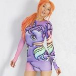 Women's My Little Pony Long Sleeved Bodycon Dress by Alice Vandy