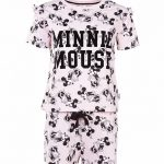 Women's Pink Disney Minnie Mouse All Over Print Shortie Pyjama Set