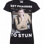 Women's Star Trek Set Phasers To Stun Captain Kirk T-Shirt