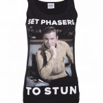 Women's Star Trek Set Phasers To Stun Captain Kirk Vest