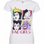 Women's White Disney Villains Bad Girls T-Shirt