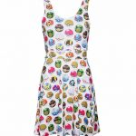 Women's White Pokemon Pokeball All Over Print Skater Dress