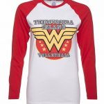 Women's Wonder Woman Volleyball Baseball T-Shirt