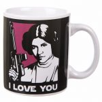 Boxed Han Solo And Princess Leia I Love You Mug