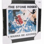 """Framed Stone Roses Wanna Be Adored 12 Album Cover Print"""""""