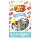 Jelly Belly Berry Blue Lip Balm And Scented Nail Polish Set