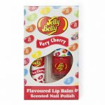 Jelly Belly Very Cherry Lip Balm And Scented Nail Polish Set