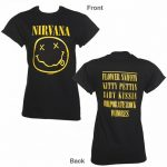 Women's Black Nirvana Nevermind Rolled Sleeve Boyfriend T-Shirt