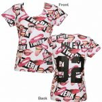 Women's Miley Cyrus 92 All Over Print Tongues T-Shirt from Eleven Paris