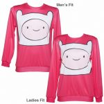 Unisex Pink Finn Face Adventure Time Sweater from Mr Gugu & Miss Go